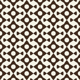 Ornamento geométrico monocromático moderno de elementos abstractos