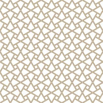 Ornamento geométrico de patrones sin fisuras basado en el arte árabe tradicional. azulejos de el cairo.