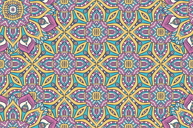 Ornamento hermoso fondo elemento de círculo geométrico hecho en vector