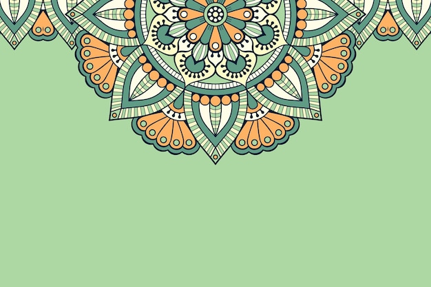 Ornamento hermoso fondo elemento de círculo geométrico vector gratuito
