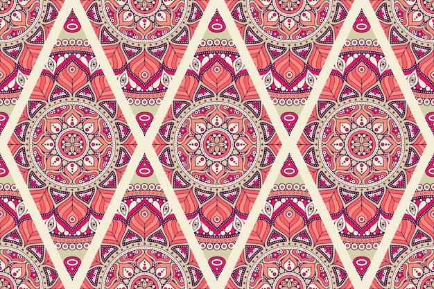 Ornamento hermoso fondo elemento de círculo geométrico