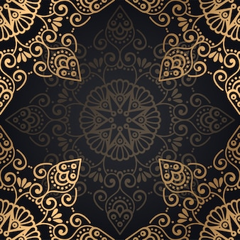 Ornamento hermoso fondo geométrico elemento círculo hecho en vector