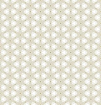 Ornamento japonés tradicional sin costuras kumiko.líneas de color dorado.