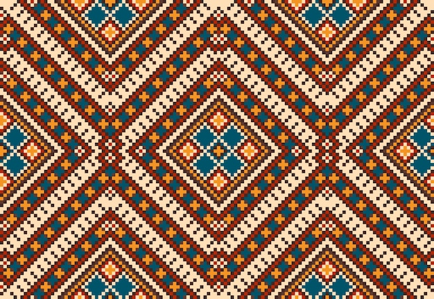 Ornamento de patrones sin fisuras étnicas populares