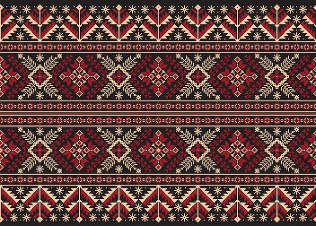 De ornamento de patrones sin fisuras folk ucraniano.