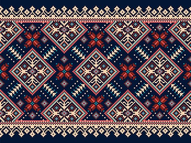 Ornamento de patrones sin fisuras folk ucraniano
