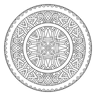 Ornamento redondeado mandala detallado