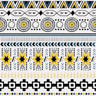 Ornamento tribal de patrones sin fisuras.