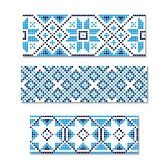 Ornamento ucraniano sin costuras.