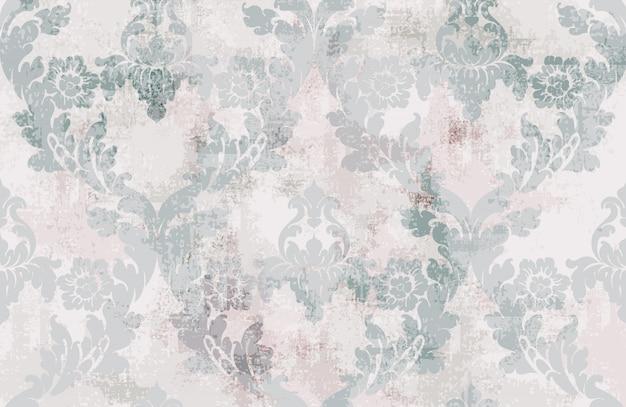 Ornamento de la vendimia sin patrón. textura barroca rococó diseño de lujo. decoraciones textiles reales.