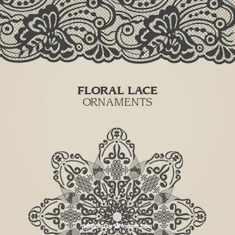 Ornamentos de encaje floral
