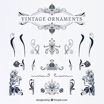 Ornamentos vintage azules