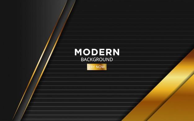 Oro abstracto moderno con línea de oro