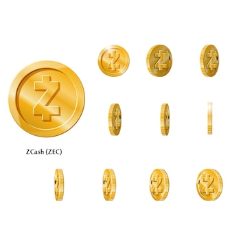 Oro girar monedas zcash