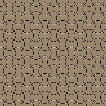 Oro lineal simple de patrones sin fisuras, estilo 3d