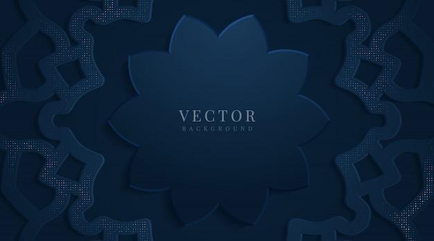 Oro de lujo abstracto y fondo azul oscuro