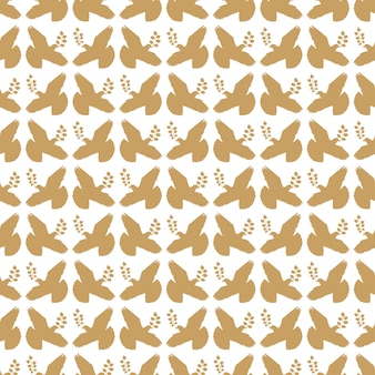 Oro vintage paz paloma de patrones sin fisuras