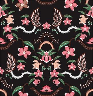 Orquídea batik patrón