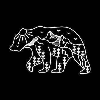 El oso aventurero