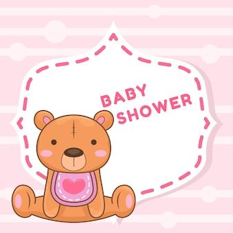 Oso de peluche para baby shower
