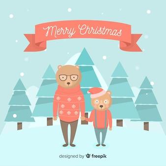Osos en navidad