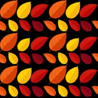 Otoño hojas de patrones sin fisuras fondo vector ilustración eps10