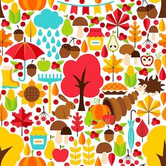 Otoño de patrones sin fisuras. fondo de vector. temporada de otoño.