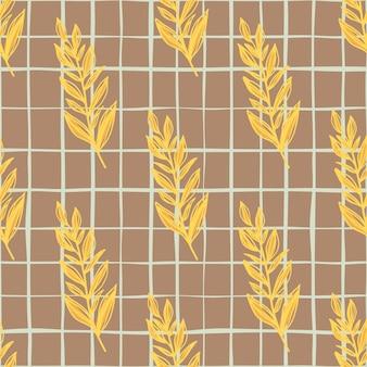 Otoño de patrones sin fisuras con ramas de hojas dibujadas a mano