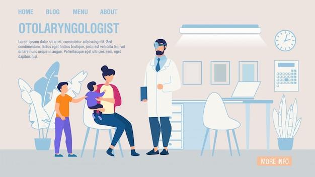 Otorrinolaringólogo servicio en línea plana página de destino