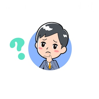 Out line businessman_icon-question