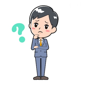 Out line businessman_question