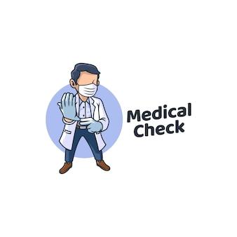Paciente de la clínica de medicina médico