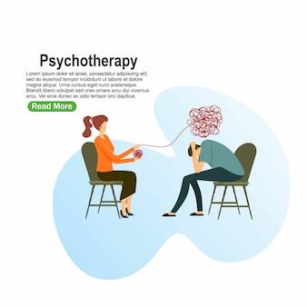 Paciente en consejería de psiquiatría