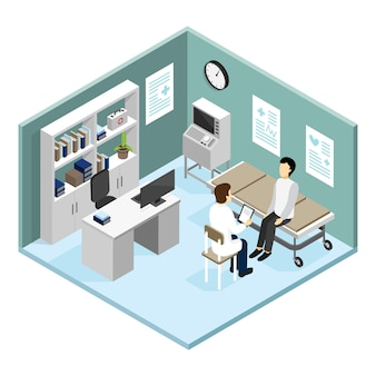 Paciente en la oficina de doctores