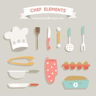Pack de accesorios retro de cocina