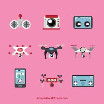 Pack adorable con drones y mandos a distancia