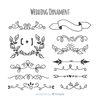 Pack de adornos de boda hechos a mano.