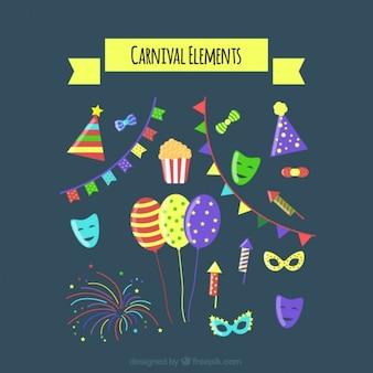 Pack de adornos de carnaval