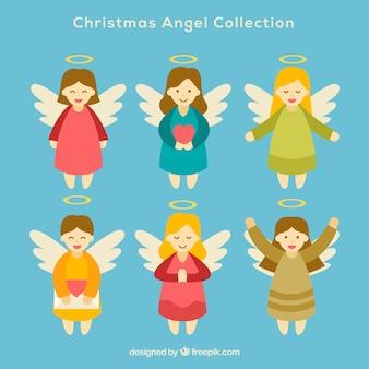 Pack de ángeles navideños
