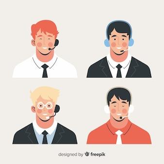 Pack de avatares de call center