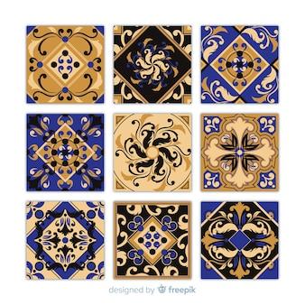 Pack de azulejos en diseño flat