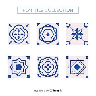 Pack de azulejos flat modernos