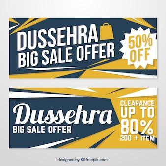 Pack de baners de dussehra con descuentos especiales