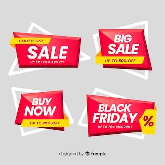Pack de banner de ventas de origami.