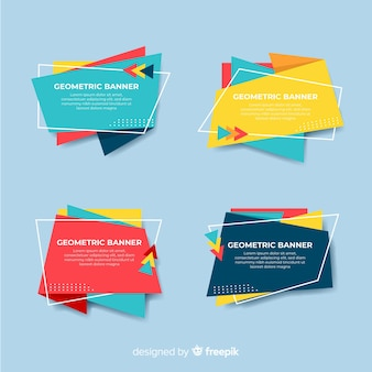 Pack banners formas abstractas irregulares