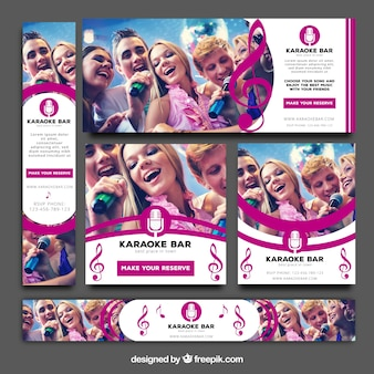 Pack de banners de karaoke bar