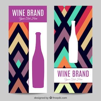Pack de banners de marca de vino