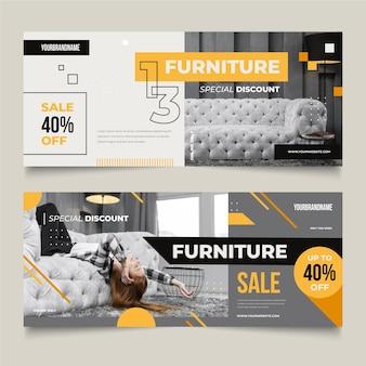 Pack de banners de venta de muebles