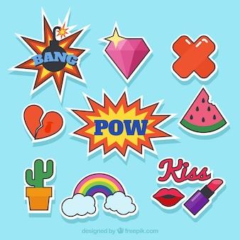 Pack básico de pegatinas de pop art