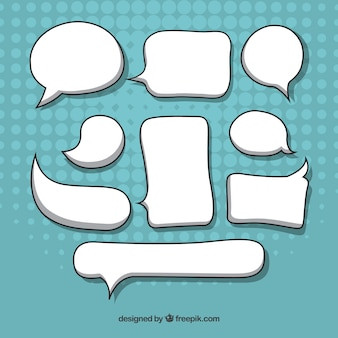 Pack de bocadillos de diálogo dibujados a mano